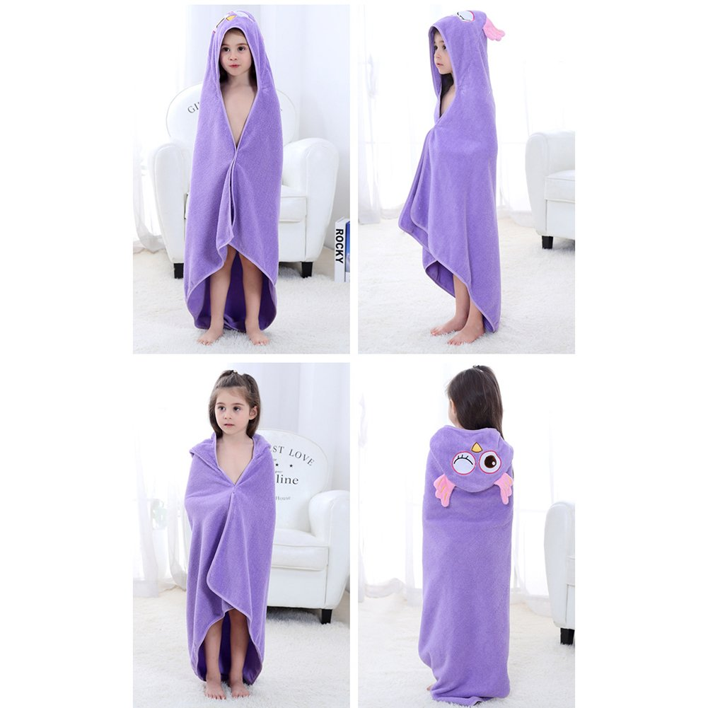 Baby Boys Girls 0-6 Years Hooded Bathrobe Super Cute Animal Towel Nightwear