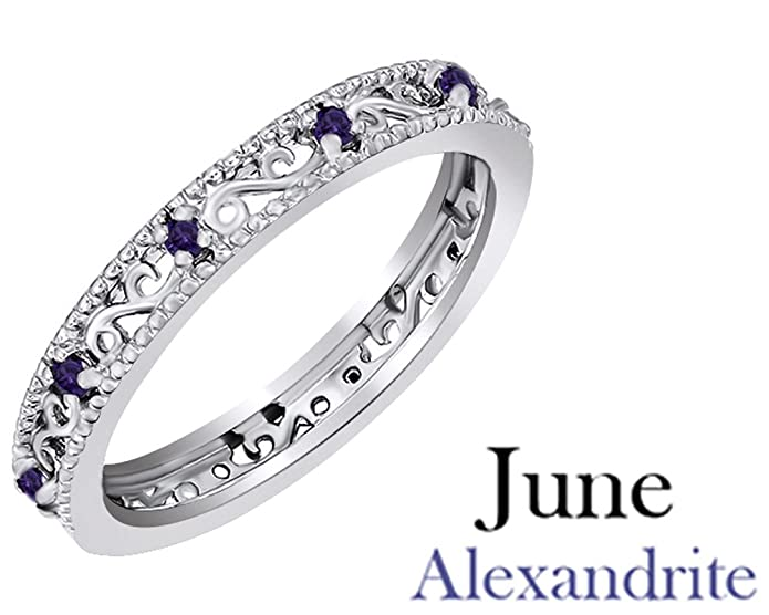 Amazon Jewel Zone Us Round Cut Purple Simulated Alexandrite