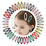 "Best Barrettes For Toddlers - Ruyaa 2"" Snap Clips No Slip Wrapped Hair Review"