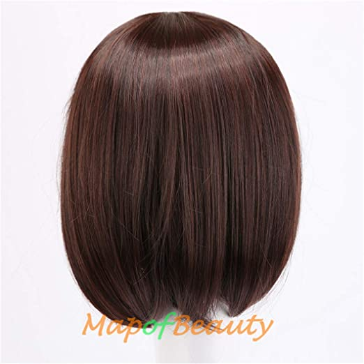 Amazon.com : Short Straight Bob Wigs Black Dark Brown 14Inch Nautral Synthetic Hair Heat Resistant Halloween Cosplay Wig Pelucas Natural Black 14inches : ...