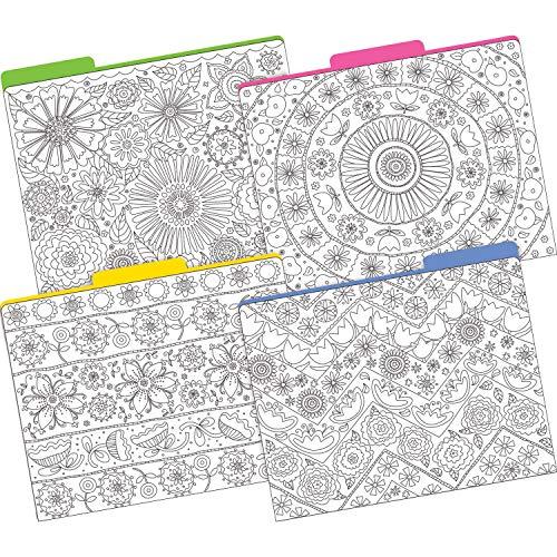 Barker Creek Letter-Size File Folders, Color Me! in My Garden, Multi-Design, Pack of 12