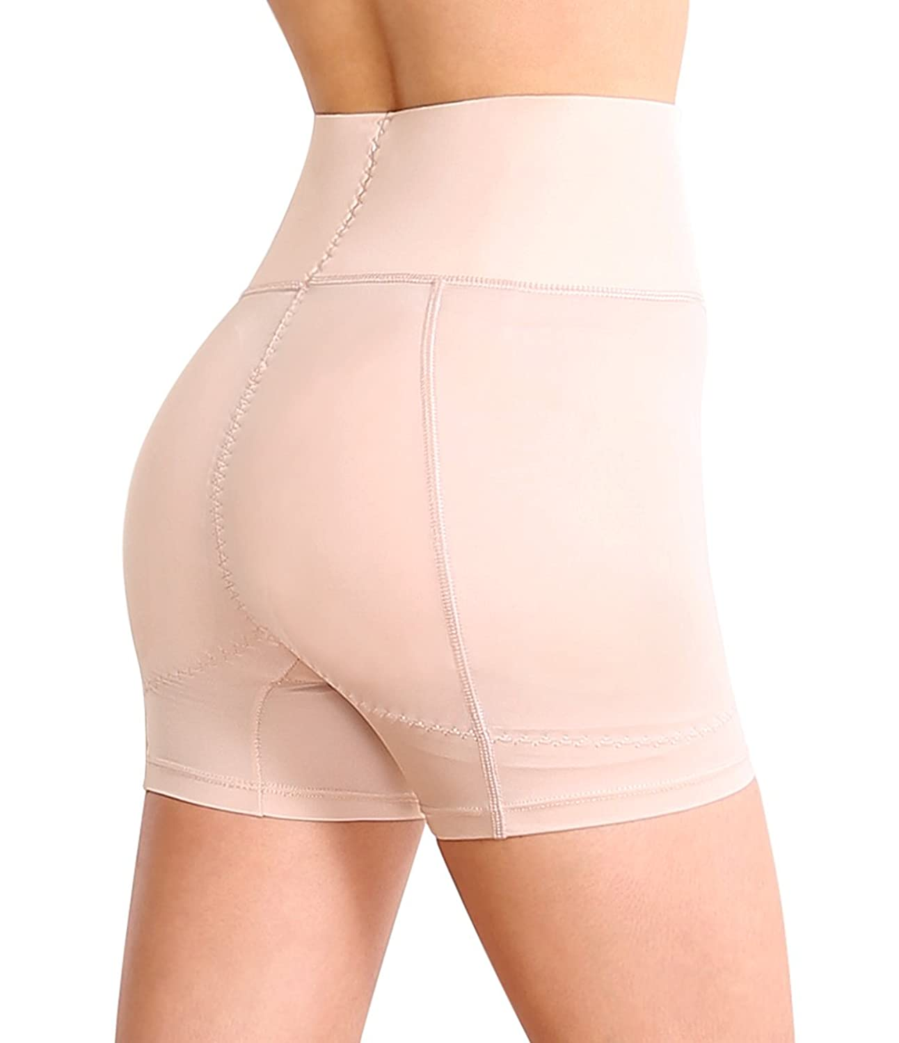SODACODA Boyshort Foam Padded Hip and Butt Enhancer with Tummy Control and Waist Cincher Band Lowrise to Midrise Style - Warm, Thick Autumn & Winter Collection (XS-XXL)