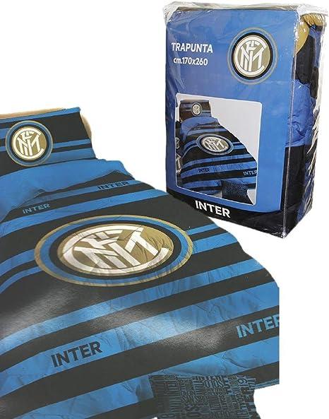 tex family COPRILETTO Trapuntato FC Inter Singolo Una Piazza Ufficiale e Cartolina Milano /È
