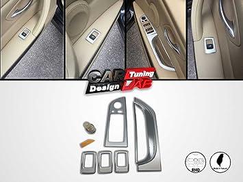 CarLab - Juego de embellecedores para interruptor de ventanilla y puerta interior para vehículos con volante