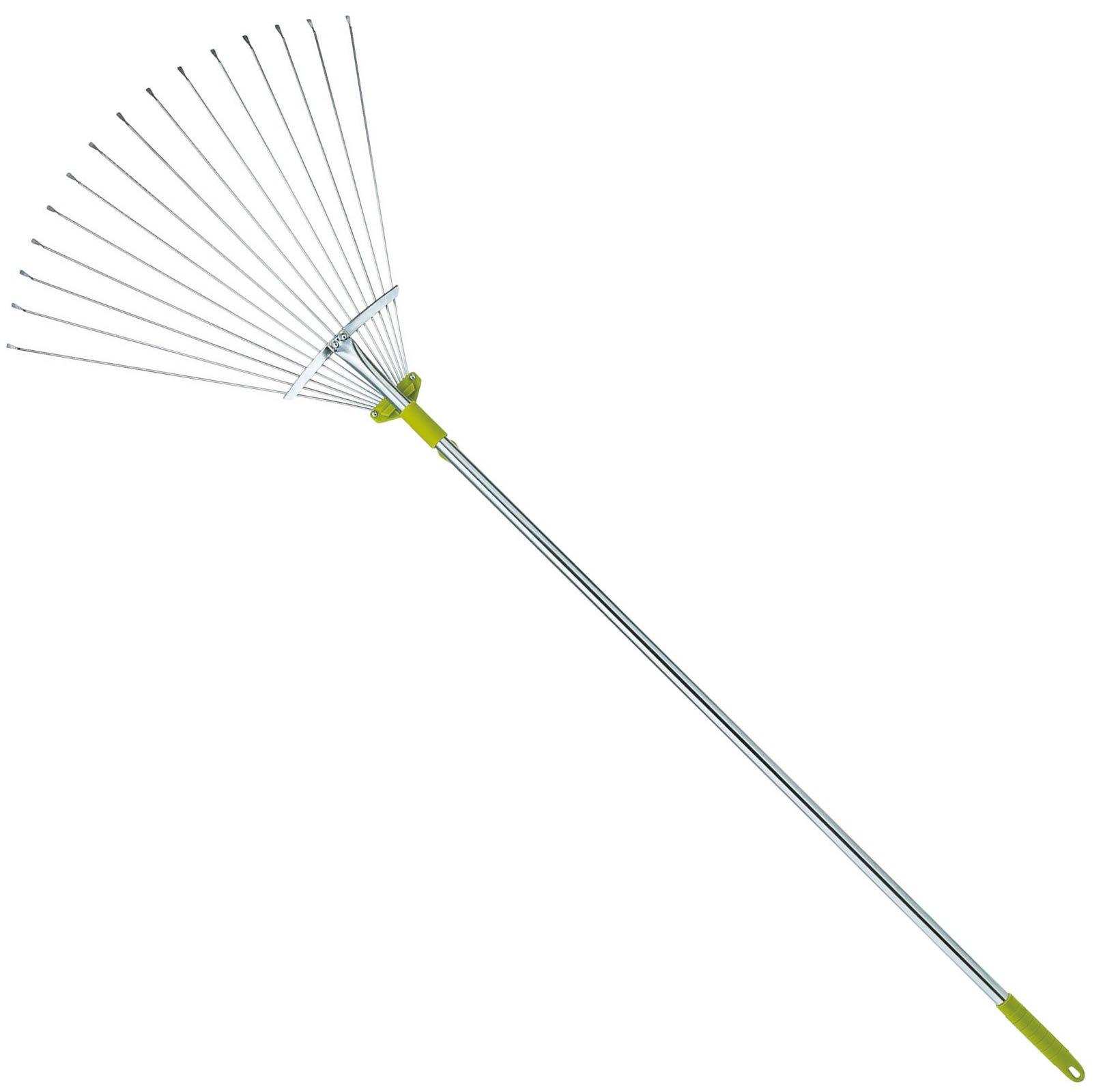 63 Inch Adjustable Garden Leaf Rake - Expanding Metal Rake - Adjustable Folding Head From 7 Inch to 22 Inch. Ideal Camp Rake by Gardenite