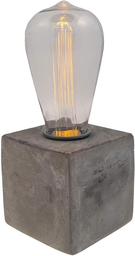 concrete table lamp edison bulb cool lamps Concrete Table Lamp Desk lamp Table lamp edison lamp Concrete Lamp white lamp