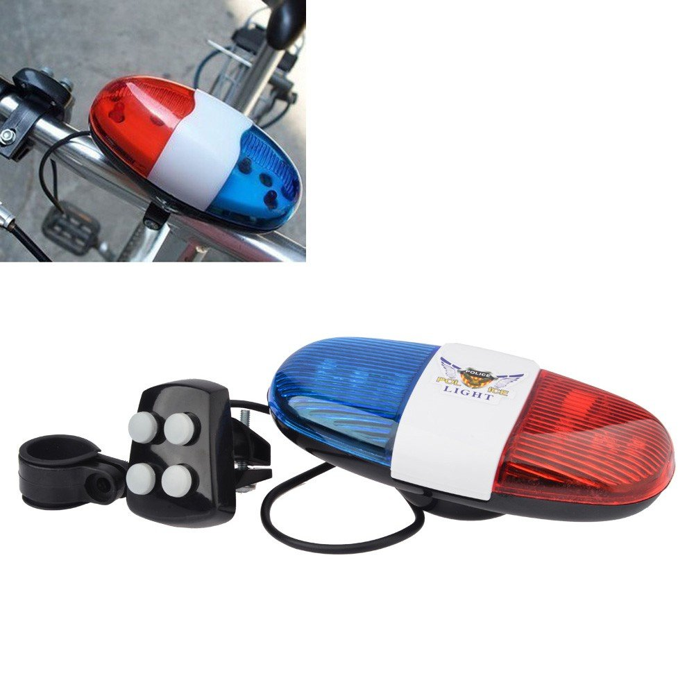 Bicycle Accessories Led Bike Light Electronic Siren For Kids Bike Bicycle Bell 6 Led 4 Tone Horn Accessories Scooter New Bicycle Bell