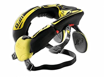UFO - 41008 : Collarin proteccion cuello enduro offroad karting UFO nss neck support amarillo