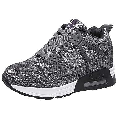 POLP Calzado Zapatos con Cordones Mujer Zapatillas Running para Hombre Aire Libre y Deporte Transpirables Invierno Casual Zapatos Gimnasio Correr Sneakers ...