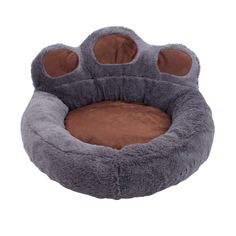 UEETEK Pet Dog Cat Soft Bed Winter Warm Slipping Cushion Mat 56 x 52 cm (Grey)