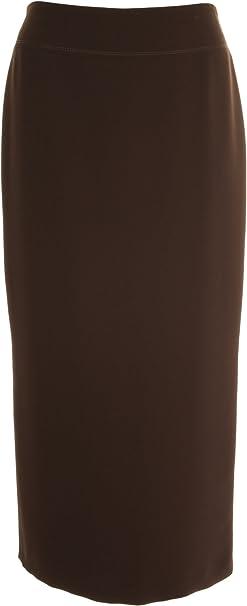 Falda larga para mujer, color bermellón, de Busy marrón marrón 52 ...