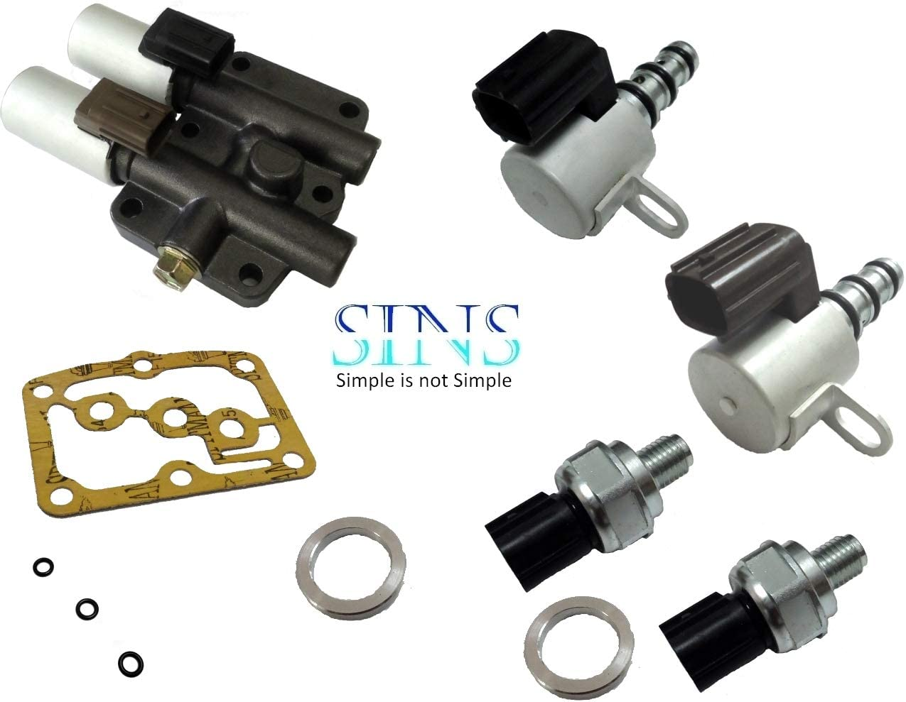 Accord Odyssey CL TL Transmission Solenoid Pressure Switch Kit 28250-P6H-024 28400-P6H-013 28500-P6H-013 28600-P7Z-013 SINS