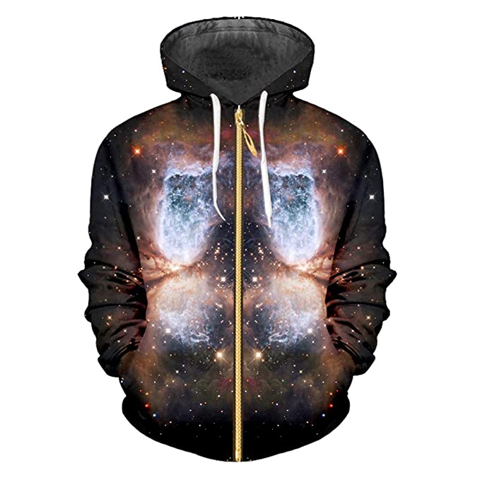 HensGalis Moda Mujer/Hombres Cool Print Starry Night 3D ...