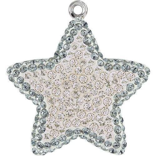 Swarovski Earrings Amethyst Light (67422 Swarovski Pendant Pave Star | Amethyst & Light Amethyst | 14mm - Pack of 1 | Small & Wholesale Packs | Free Delivery)