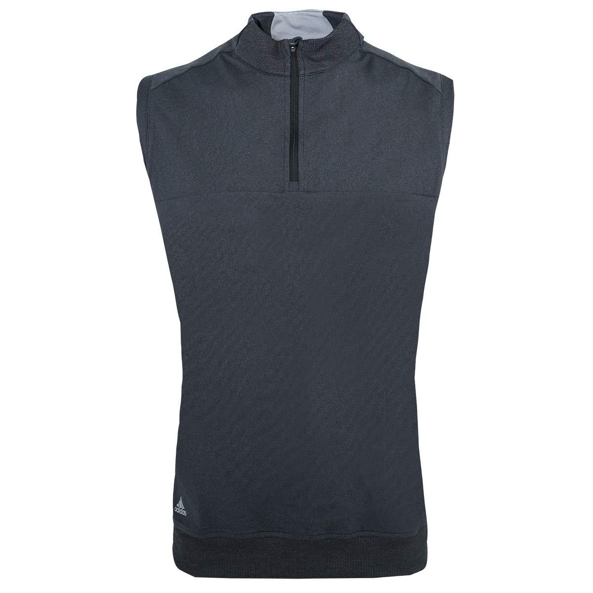 adidas Golf Mens Quarter-Zip Club Vest (A271) -Black Heat -S