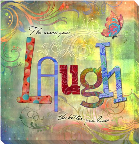 Laugh by Connie Haley Gallery-Wrapped Custom Canvas Giclee (Ready-to-Hang) (Wrap Haley Double)