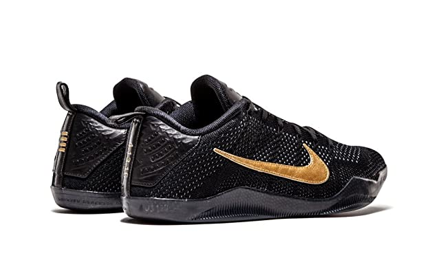 pretty nice 142c4 2a27e Amazon.com   Nike Kobe XI 11 FTB Flyknit Premium Black-Metallic Gold  869459-001