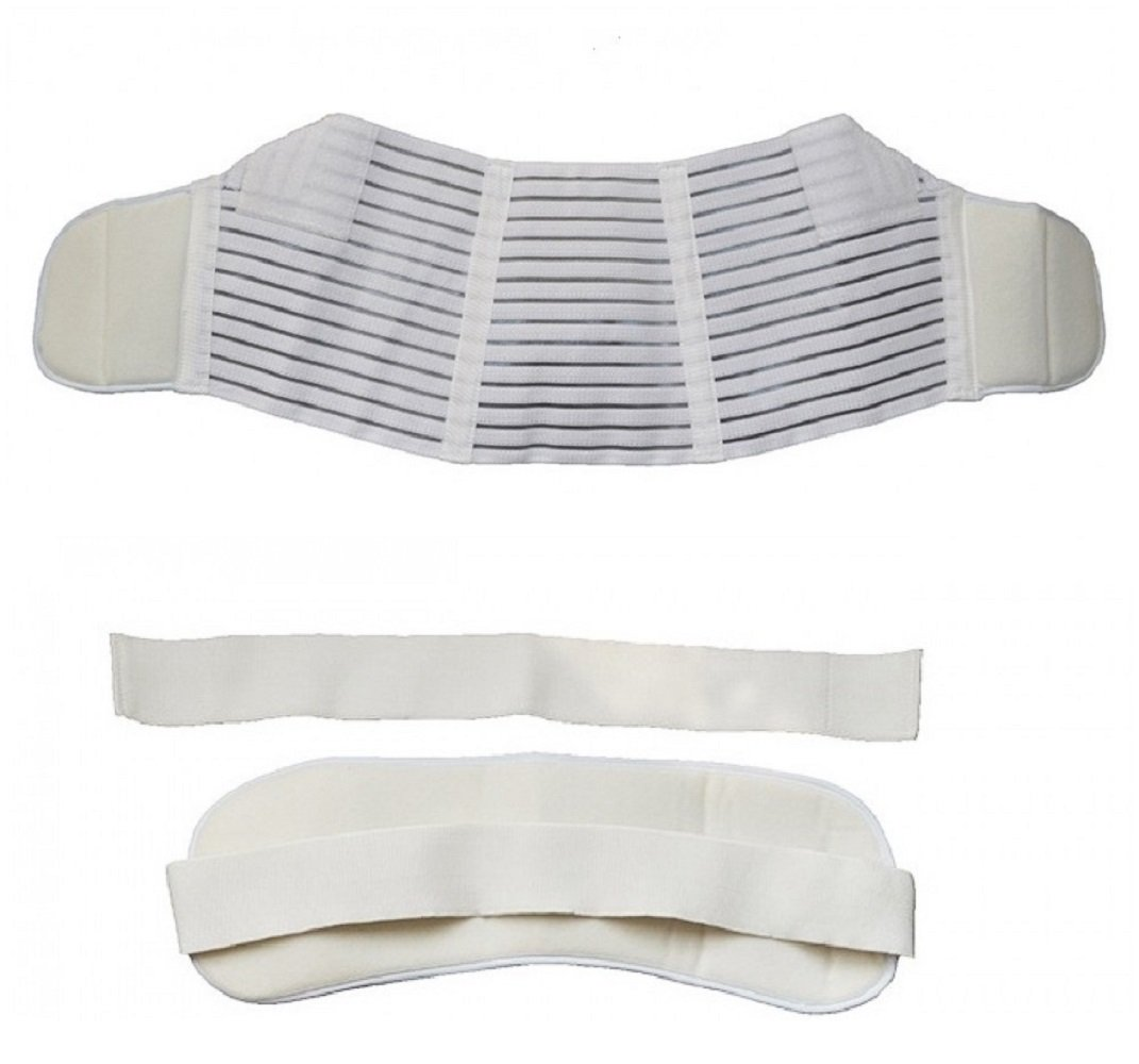 TechnoTec® Pregnancy Maternity Pregnancy Back & Bump Support Belt White Colour Size S, M, L, XL Or XXL (Eco-friendly Reduced Packaging!) (Large) FMT007GA