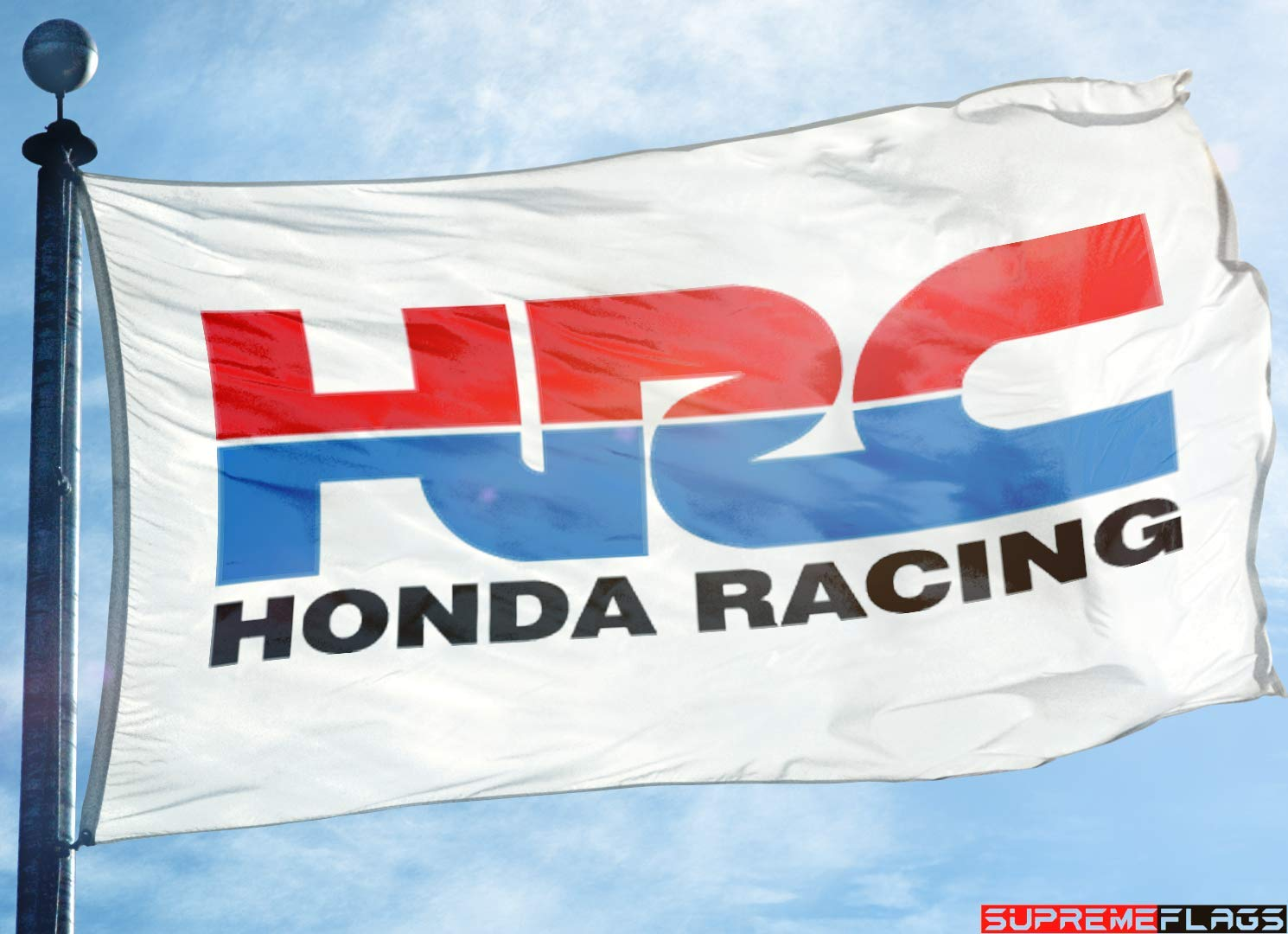 HRC Flag Banner Honda Racing Corporation Car Wall Garage White 90 x 150 cm