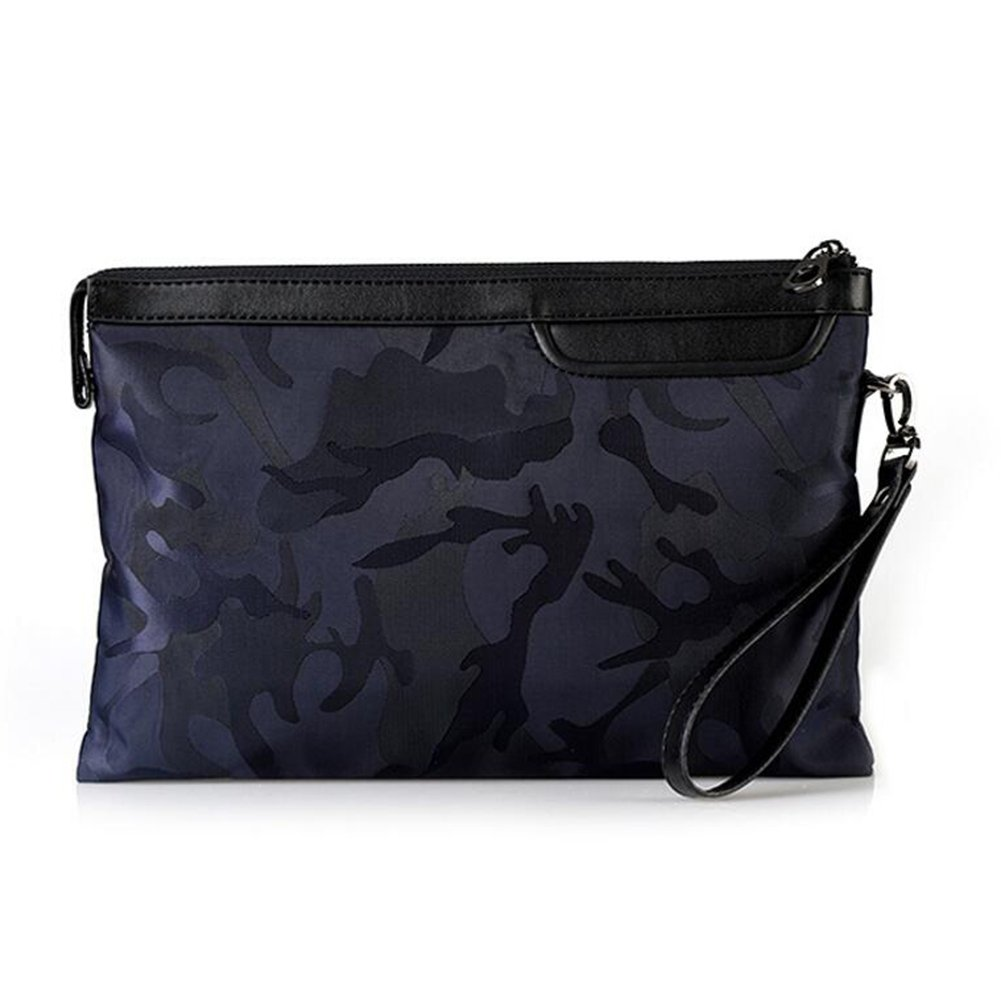 QIDI Handbag Polyester High Capacity Oxford Cloth Casual Fashion Men's Clutch Bag (Color : BLUE, Size : Small)