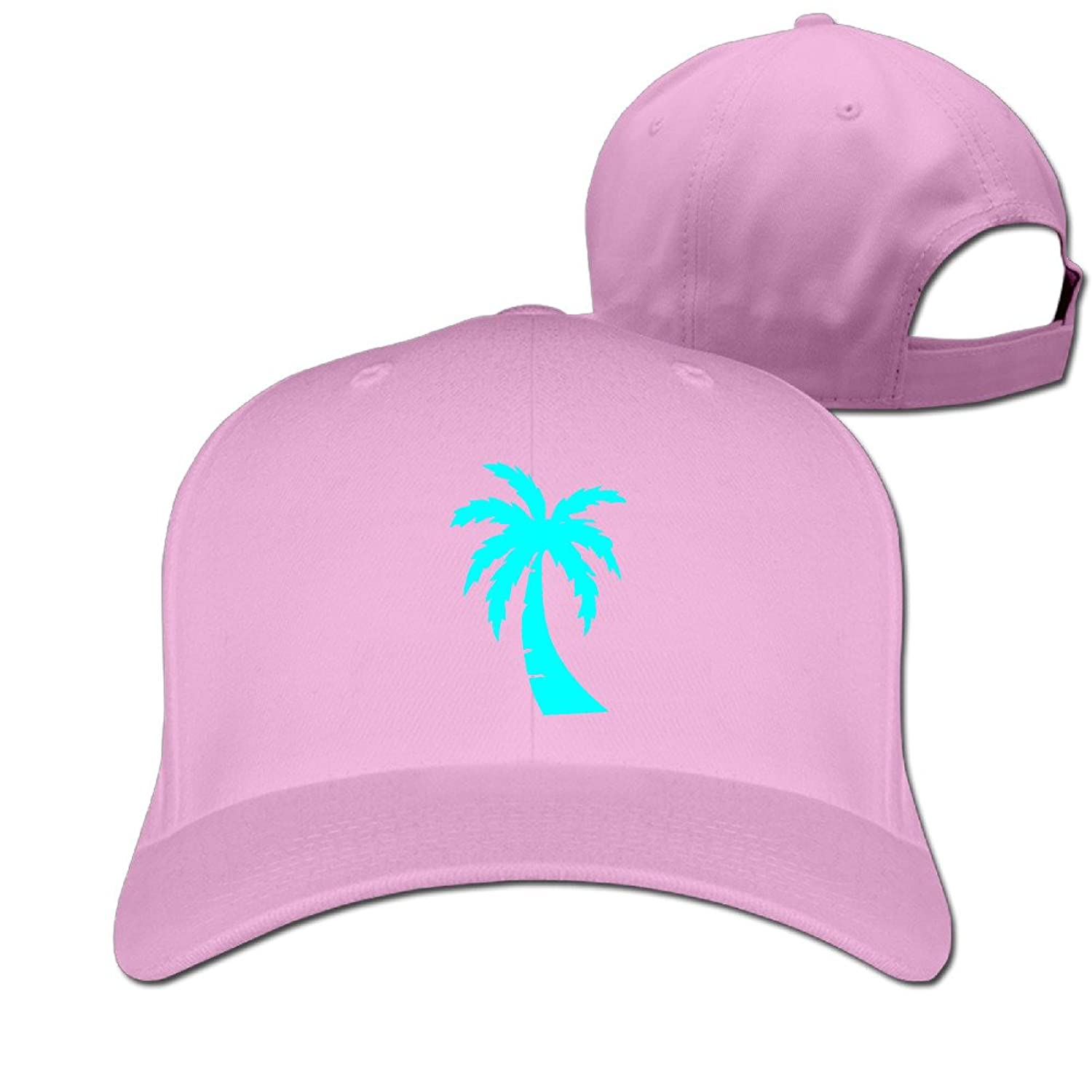 Unisex Fashion Street California Republic Turquoise Palm Flat-along Caps Visor Hats Sun Hat