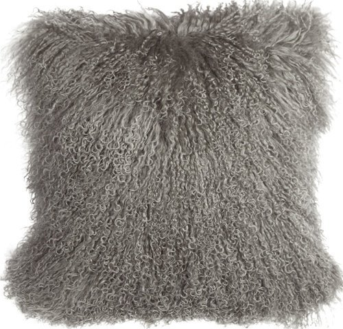 Pillow Decor Brand - Genuine Mongolian Sheepskin Gray Throw