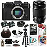 Fujifilm X-T20 Camera Body (Black) + XF 55-200mm f/3.5-4.8 R LM OIS Lens+ Software+ +2-Pack NPW126 Battery