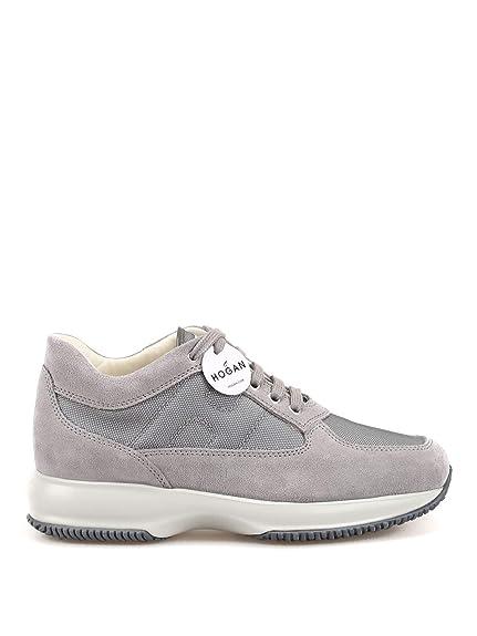 Hogan Hombre HXM00N00E10B2AB607 Gris Cuero Zapatillas: Amazon.es: Zapatos y complementos