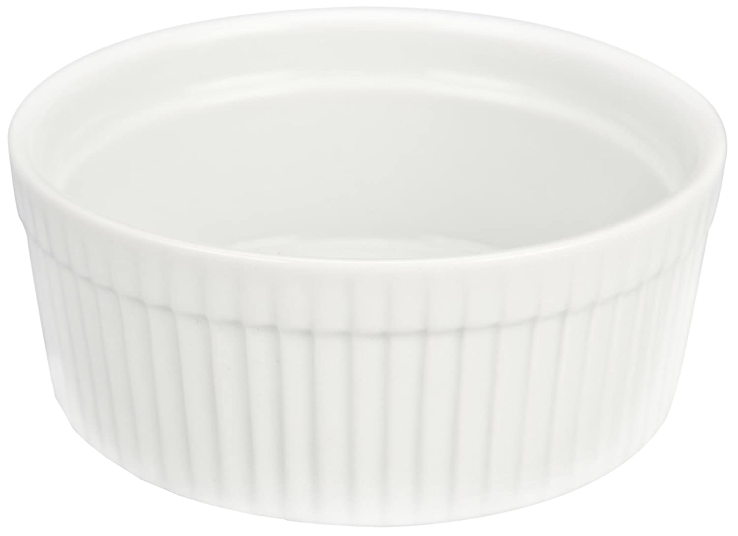 Bia Cordon Bleu White Porcelain 10-Ounce Individual Souffle, Set of 4 900013S4