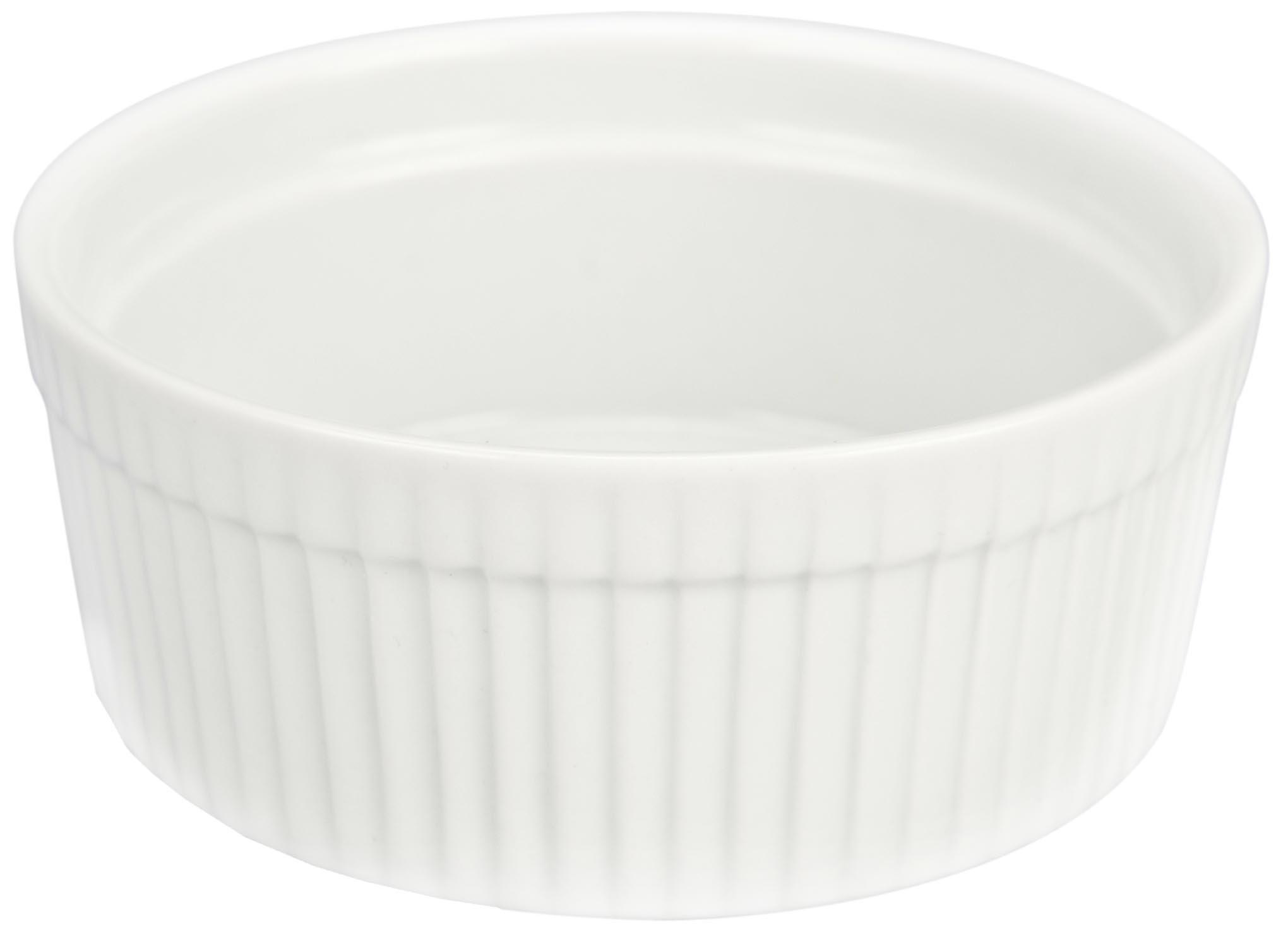 Bia Cordon Bleu White Porcelain 10-Ounce Individual Souffle, Set of 4 by BIA Cordon Bleu