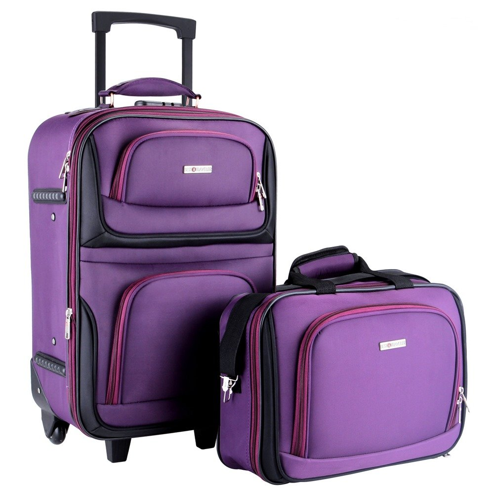 87d556f7056c Amazon.com | Good concept 2PC Carry On Travel Luggage Lightweight ...
