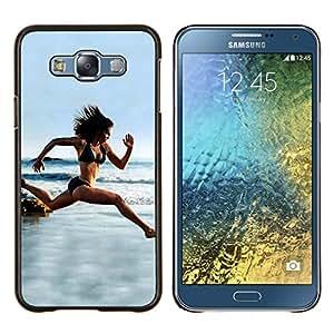 EJOOY---Cubierta de la caja de protección para la piel dura ** Samsung Galaxy E7 E700 ** --Funcionamiento de la mujer Cuerpo Beach Ciclismo Recortar