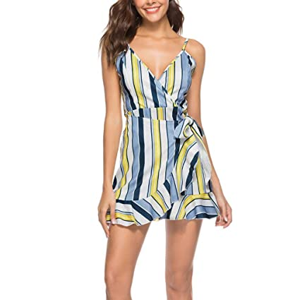 Vestido,Wave166 Primavera y Verano Vestido de Las señoras Mini ...
