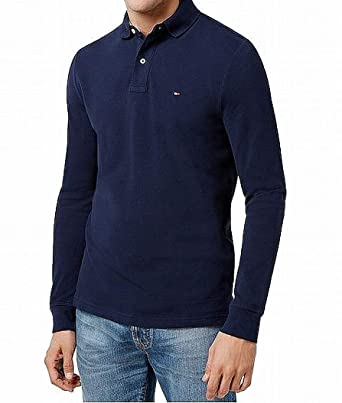 dba0bbae Tommy Hilfiger Men's Long-Sleeve Classic-Fit Polo at Amazon Men's Clothing  store: