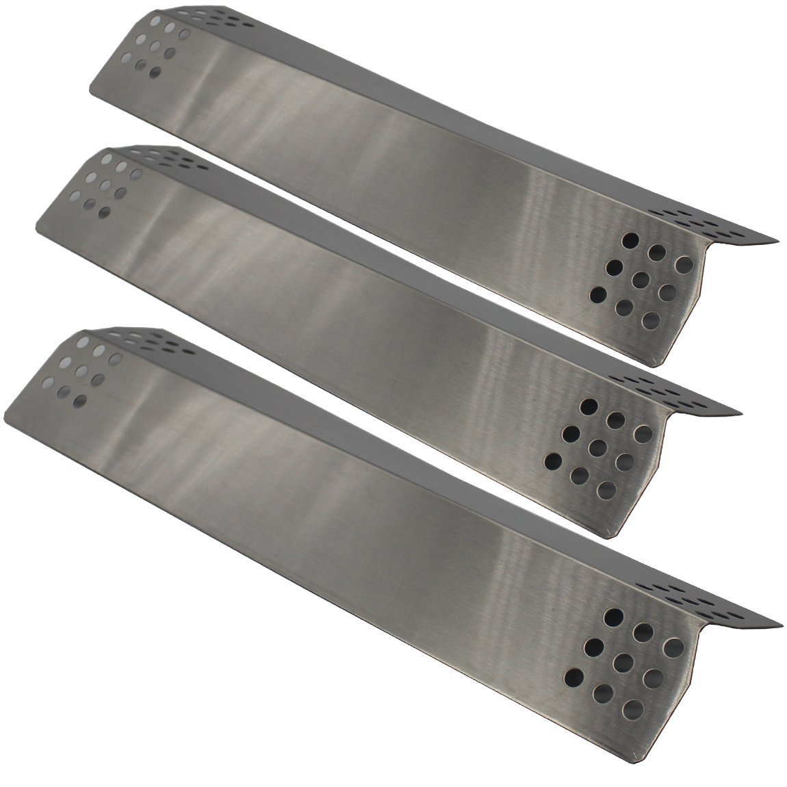 BBQration 3 Pack Stainless Steel Heat Plate Replacement for Gas Grill Model Kitchen Aid 720-0787D, 720-0819 (16 9/16 x 4 1/2)