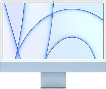 2021 Apple iMac (24tum, Apple M1-chip med åttakärnig processor och sjukärnig grafikprocessor, två portar, 8GB RAM, 256 GB) - blå