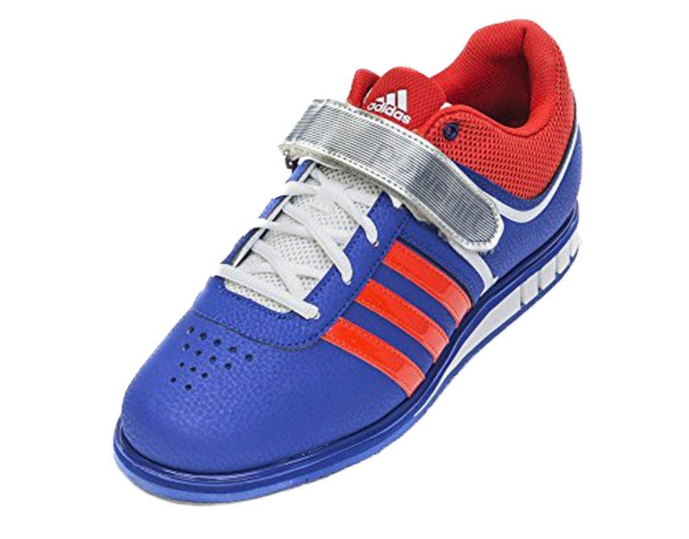 Adidas Power Perfect II, Zapatillas Deportivas para Interior, Unisex Adulto 48|azul / rojo / blanco