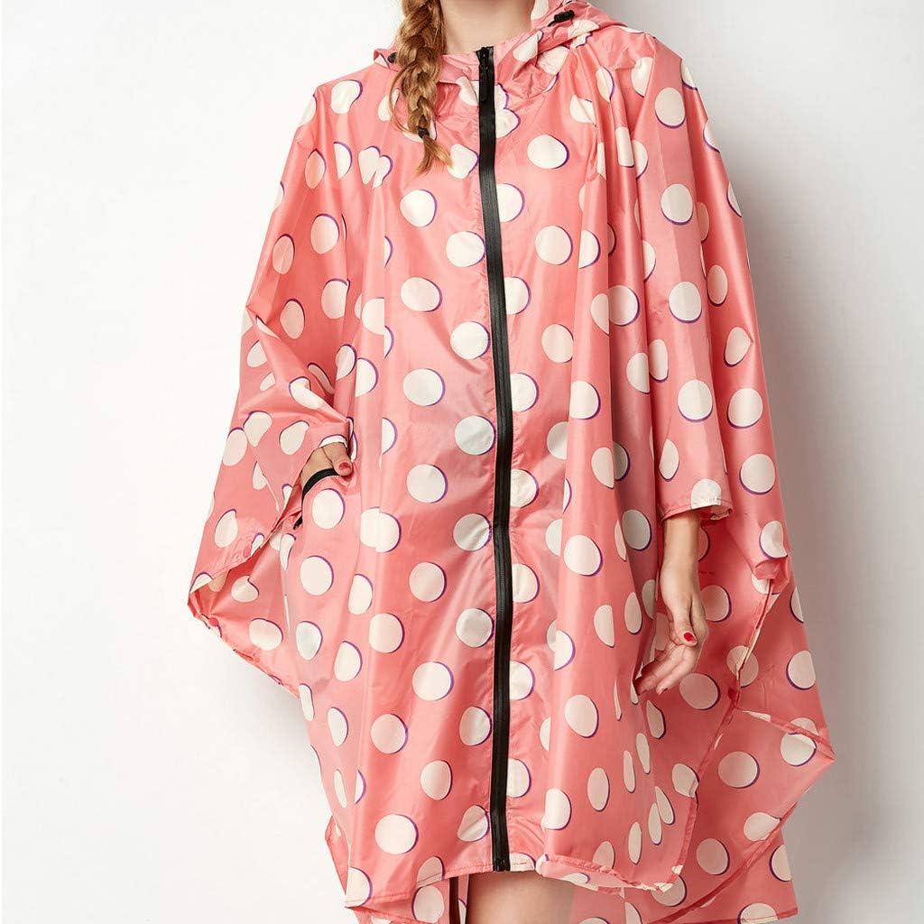 Women Hooded Raincoat Adult Waterproof Zipper Pocket Rain Jacket Coat Poncho Unisex Outdoor Rainwear Viahwyt