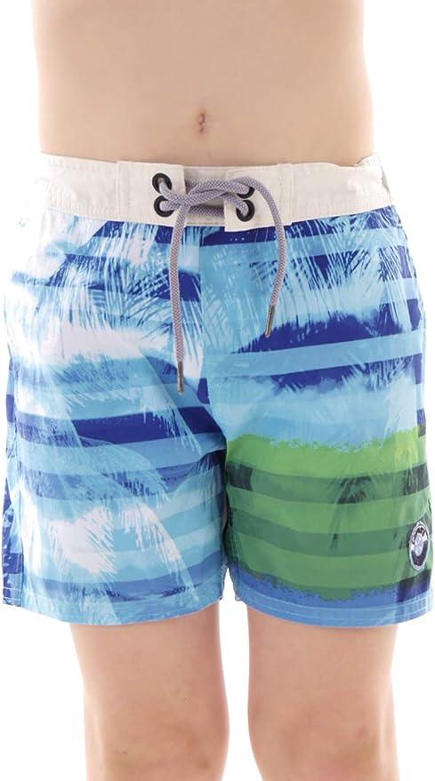 Brunotti Boardshort Badehose Swimwear grün Cattoso Blumen Schnürung