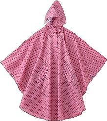 Kawazumi Works rain Poncho Pink dot KW-623PD