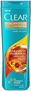 Clear Anti-Dandruff Shampoo Weightless Hydration, 400ml