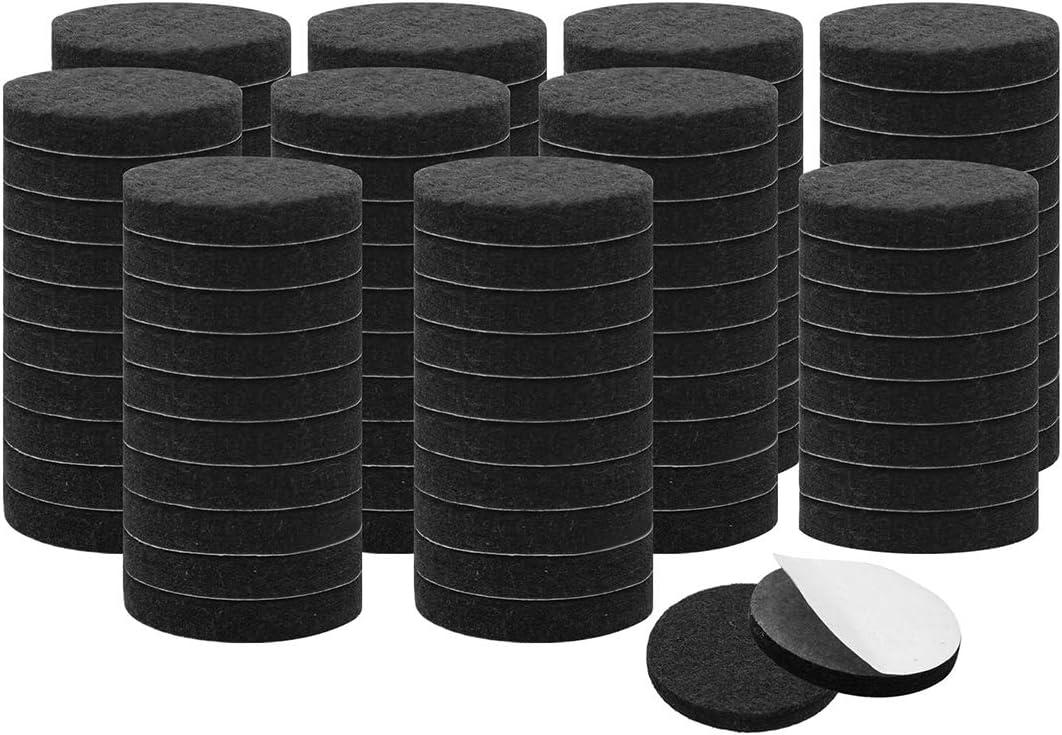 uxcell 100pcs Furniture Felt Pads Round 3/4