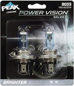 PEAK Power Vision Silver Automotive Performance Headlamp, 9003 H4, HB2, 2 Pack