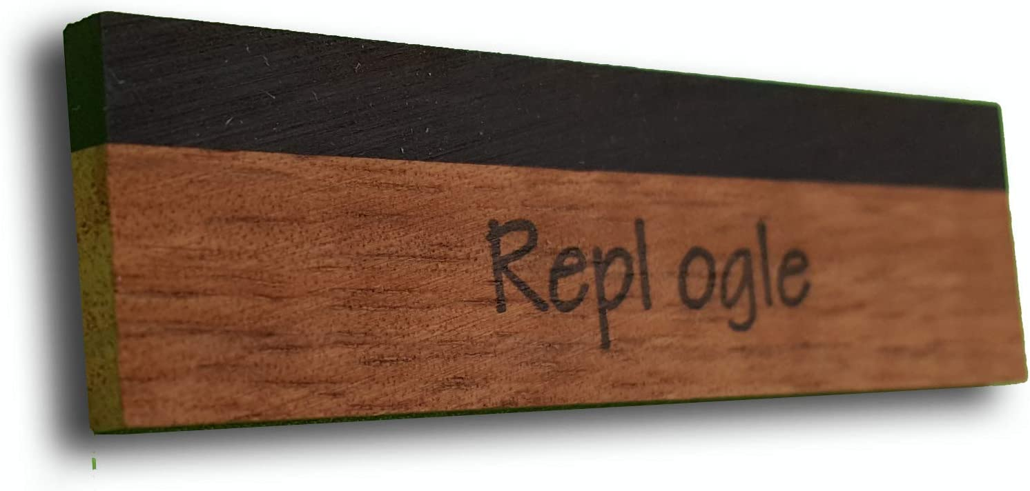 Full Koa//Ebony Capped Blank Replogle Reso REP-SKF1B Resonator Saddles