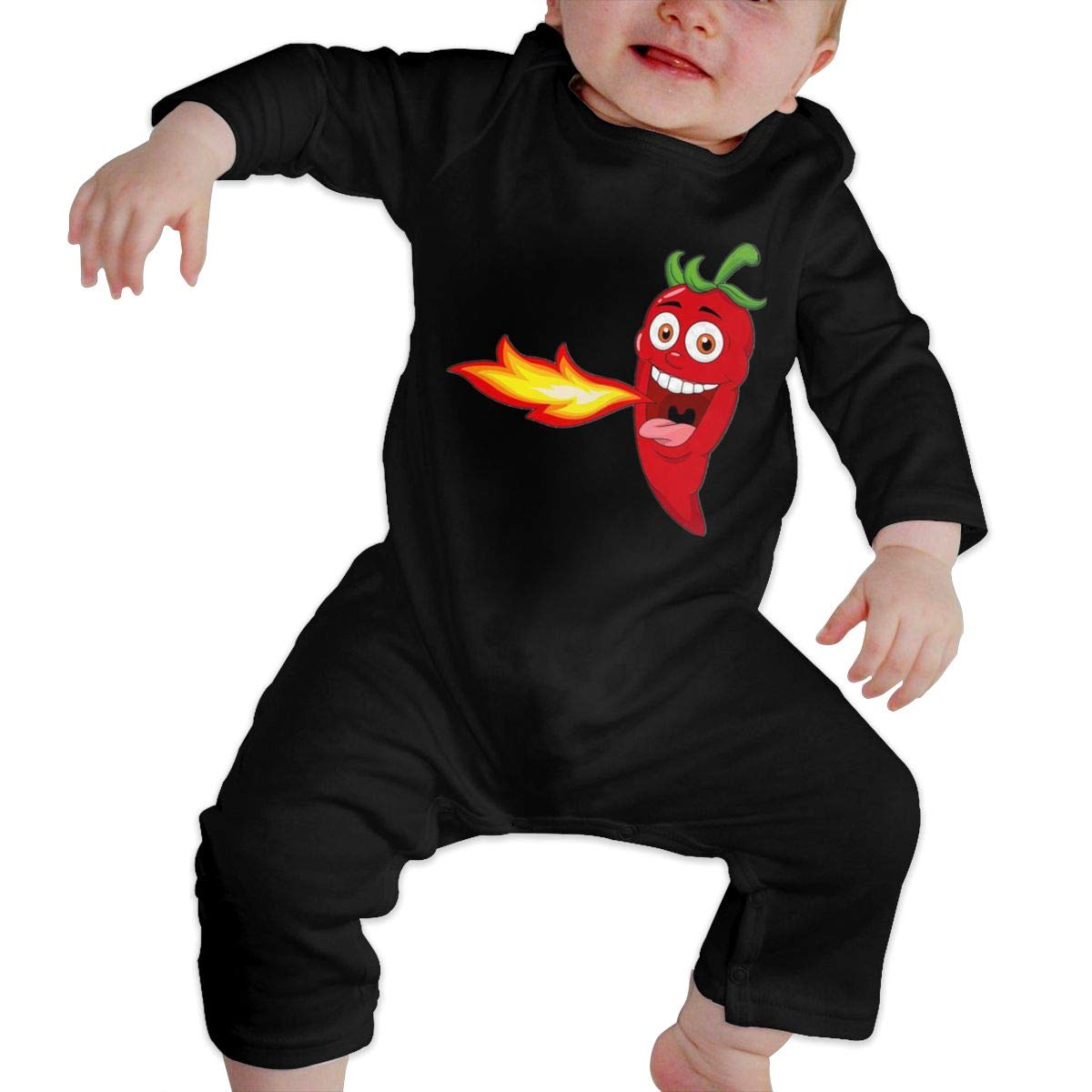 Fasenix Cartoon Chili Fire Newborn Baby Boy Girl Romper Jumpsuit Long Sleeve Bodysuit Overalls Outfits Clothes