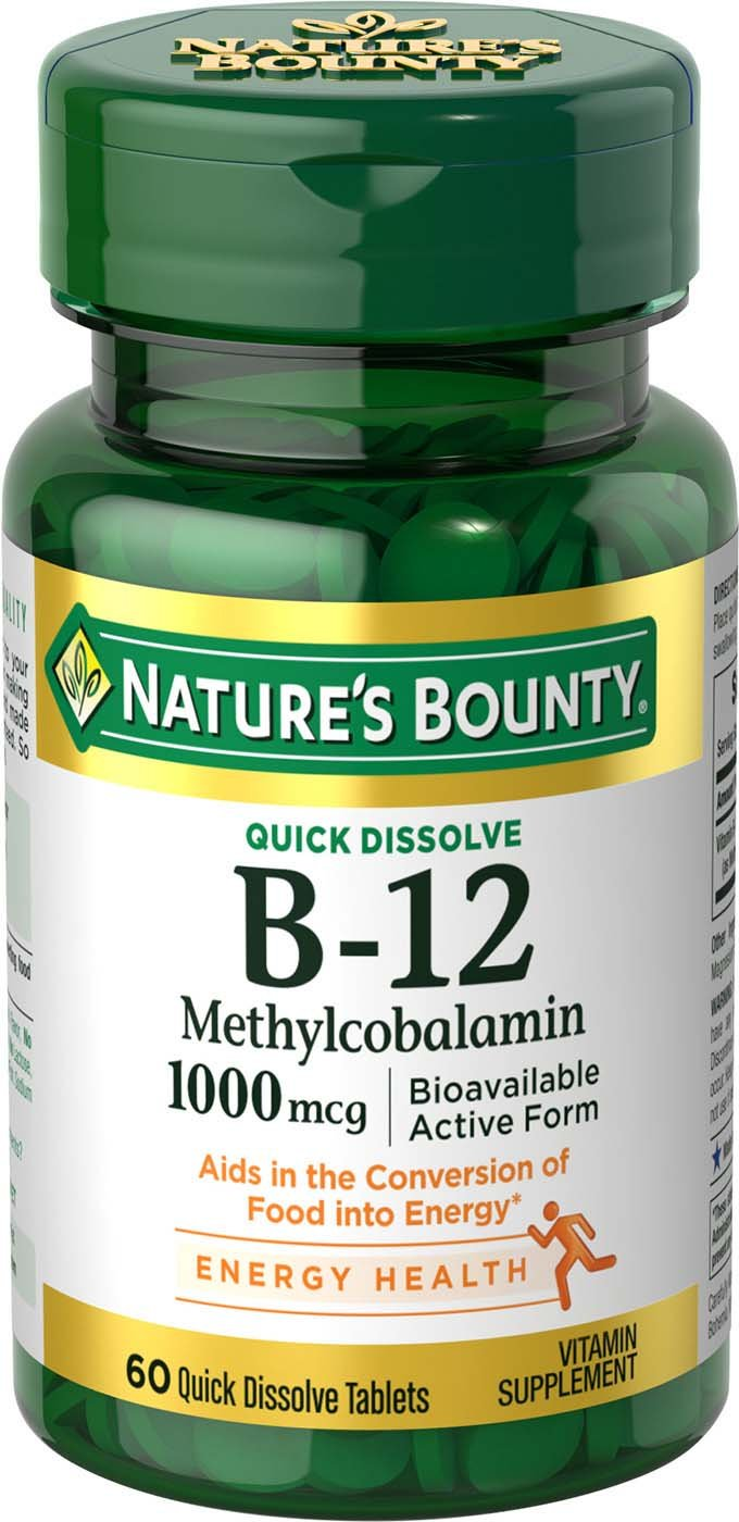 Nature's Bounty B-12 1000 mcg Microlozenges 60 ea
