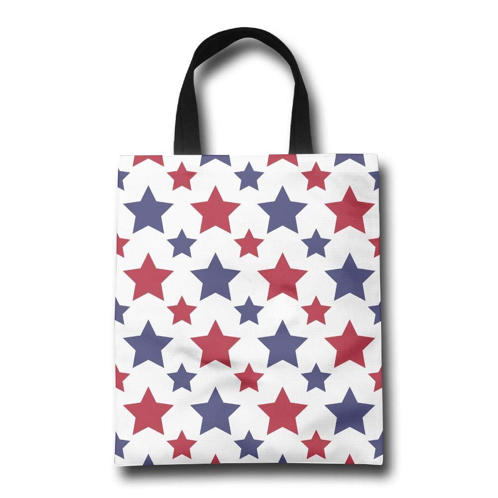最安価格 Lqzdqa Patriotic USA ブルー レッド スター ファッション ファッション ブルー 再利用可能 ショッピングバッグ レッド エコフレンドリー 丈夫 B07GSNRZG9, グッドライフコート:0bec5120 --- arianechie.dominiotemporario.com