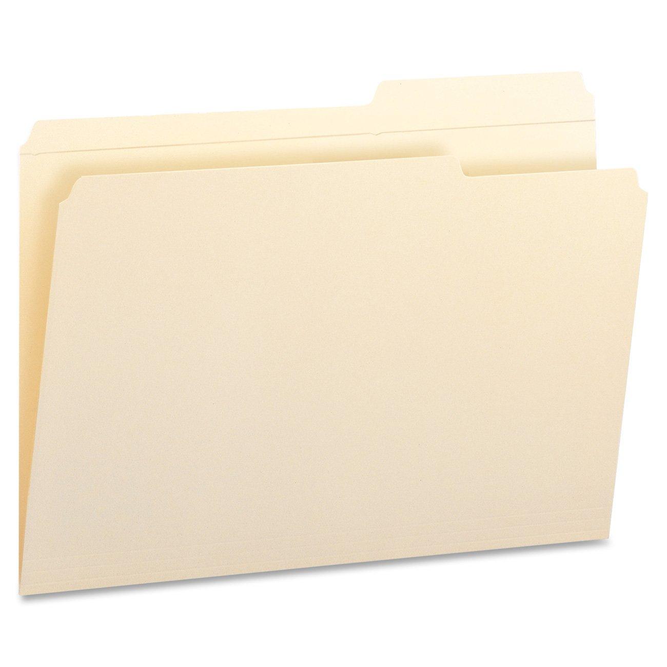 Guide Height Folder, 2/5 Cut Right, Reinforced Top Tab, Legal, Manila, 100/Box (並行輸入品) B0006HUZMU 2/5-Cut Right Position Legal Legal 2/5-Cut Right Position