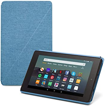 Amazon Com Fire 7 Tablet 7 Display 32 Gb Blue Amazon Standing Case Twilight Blue Kindle Store