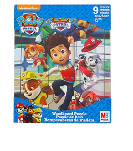 Paw Patrol Puzzle Wood Board Toddler Puzzle 9 Large Pieces